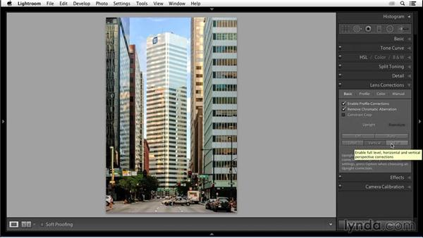 Correcting keystoning with Upright: Enhancing an Urban Landscape Photo with Lightroom and Photoshop
