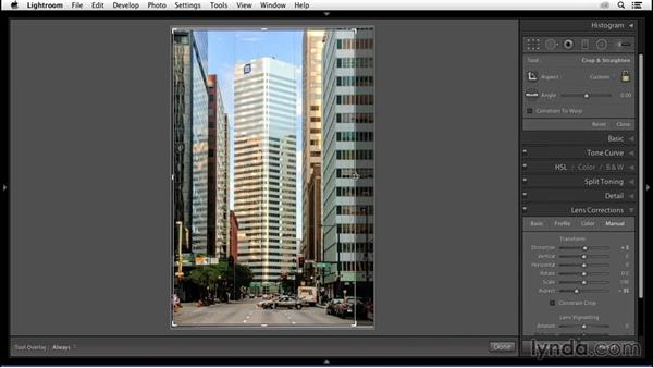 Cropping the composition: Enhancing an Urban Landscape Photo with Lightroom and Photoshop