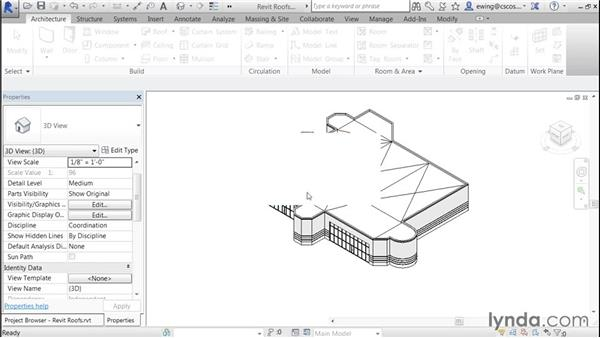 Adding crickets: Building Roofs with Revit