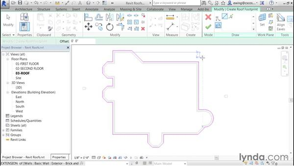 Sloping flat roofs: Building Roofs with Revit
