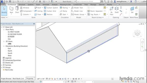 Adding a gable: Building Roofs with Revit