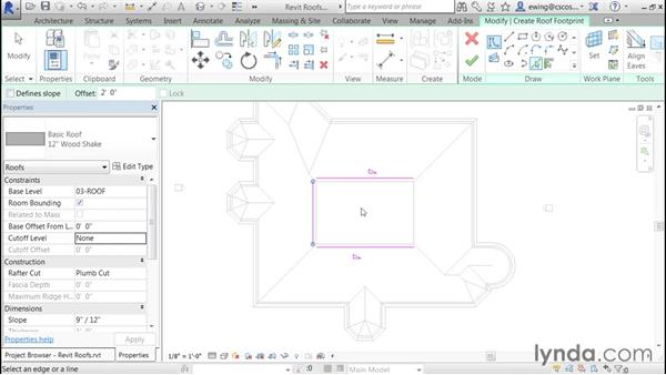 Creating a Dutch gable roof: Building Roofs with Revit