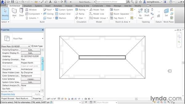 Adding a mansard roof: Building Roofs with Revit