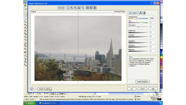 Bitmap editing using the image adjustment lab: Getting Started with CorelDRAW Graphics Suite X3