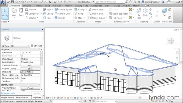 Adding dormer walls: Building Roofs with Revit