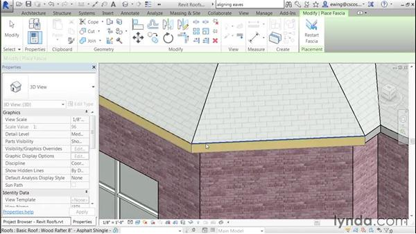 Adding a flat fascia: Building Roofs with Revit