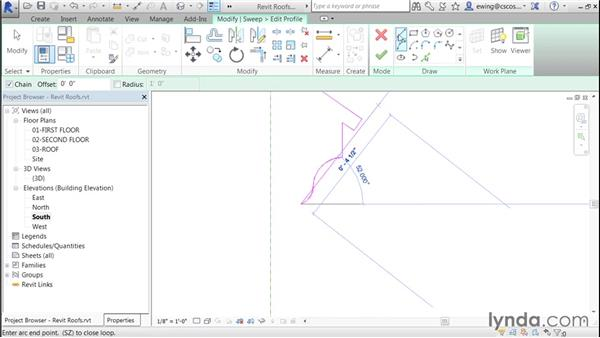 Adding an in-place fascia family: Building Roofs with Revit