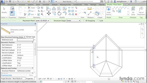 Adding 2 x 10 sill plates: Building Roofs with Revit