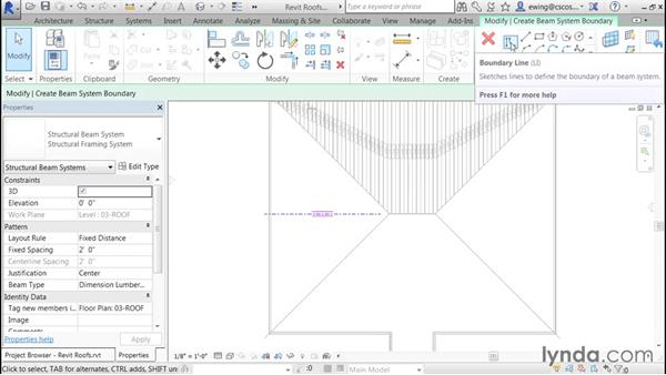 Creating rafter-style framing: Building Roofs with Revit