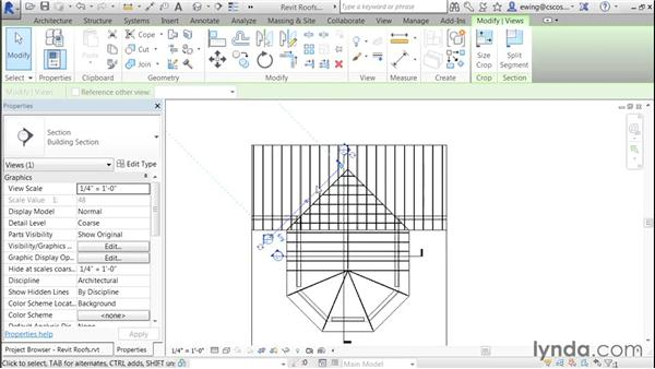 Valley details: Building Roofs with Revit
