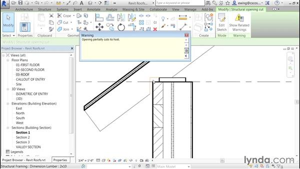 Wall attachment details: Building Roofs with Revit