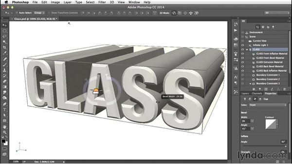 Beveling and inflating: Creating 3D Type in Photoshop