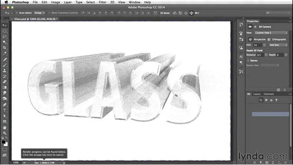 Trying a render: Creating 3D Type in Photoshop