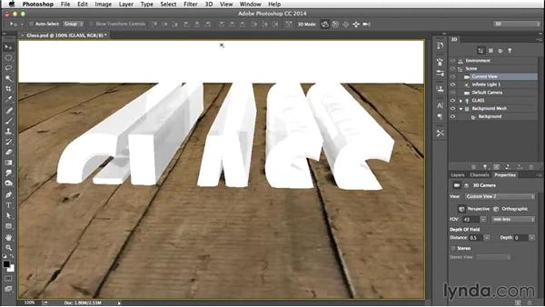 Merging the 3D layers: Creating 3D Type in Photoshop