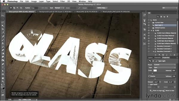 Fixing the shadows: Creating 3D Type in Photoshop