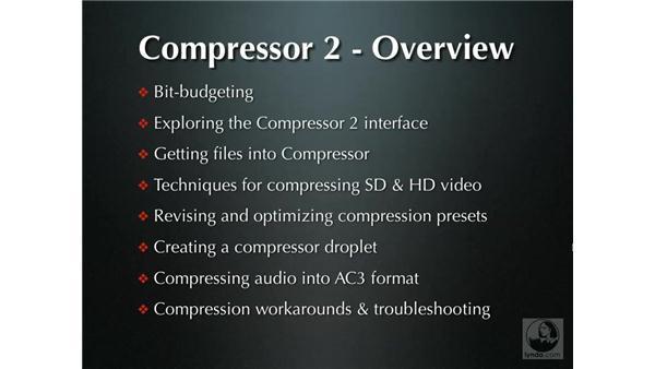 Topics covered: DVD Studio Pro 4 + Compressor 2 New Features