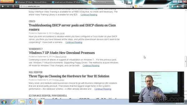 Windows 7 XP mode: Managing Windows 7