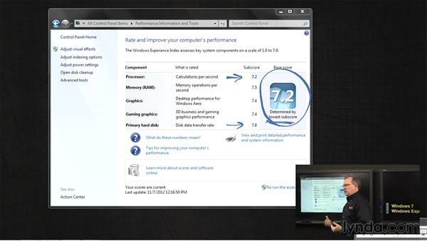 The Windows Experience Index: Managing Windows 7