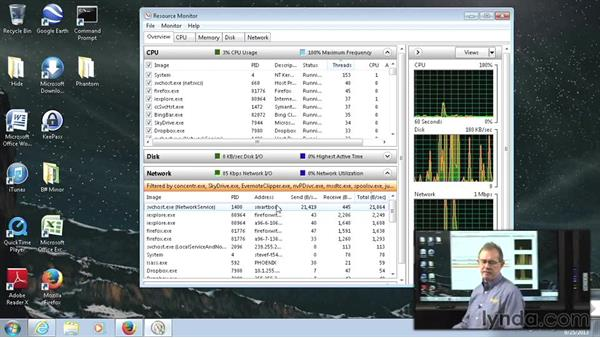 Resource Monitor: Managing Windows 7