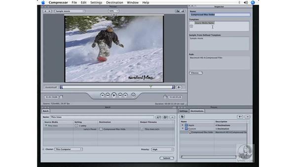 Creating new destinations: DVD Studio Pro 4 + Compressor 2 New Features