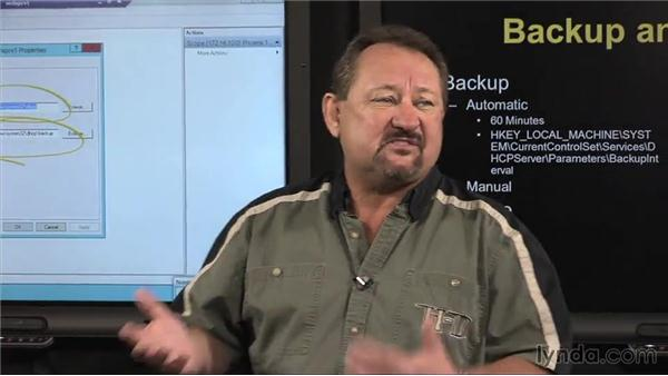 Managing the DHCP database: Windows Server 2012 Active Directory: Network Services