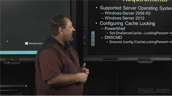 Cache locking: Windows Server 2012 Active Directory: Network Services