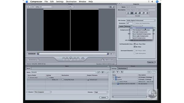 Compressing AC3 audio: DVD Studio Pro 4 + Compressor 2 New Features
