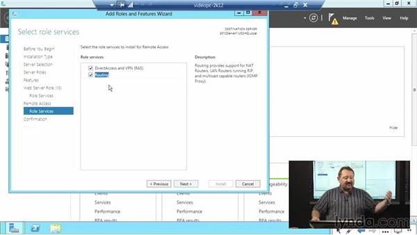Configuring a VPN solution: Windows Server 2012 Active Directory: Network Services