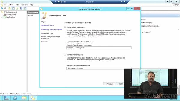 Configuration: Windows Server 2012 Active Directory: Network Services