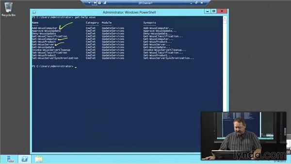 Windows Software Update Services (WSUS) PowerShell cmdlets: Windows Server 2012 Active Directory: Network Services