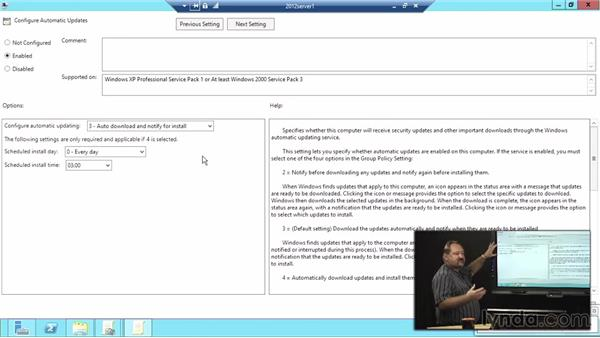 WSUS installation and configuration