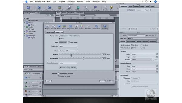 Support for both SD and HD: DVD Studio Pro 4 + Compressor 2 New Features