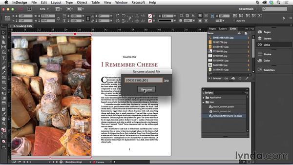 Renaming assets: Adapting a Print Layout for Digital Publishing