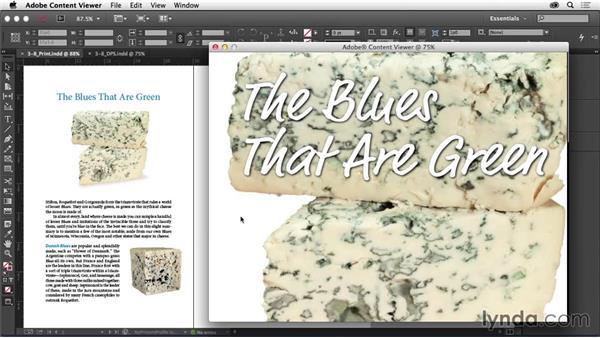 Adjusting layouts: Adapting a Print Layout for Digital Publishing