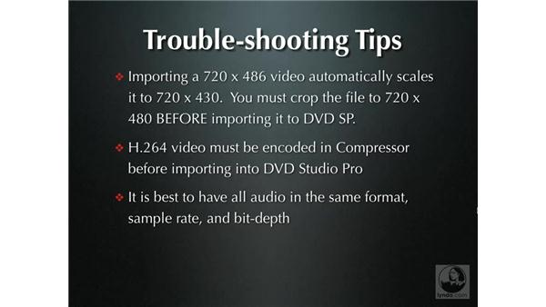 Troubleshooting tips: DVD Studio Pro 4 + Compressor 2 New Features