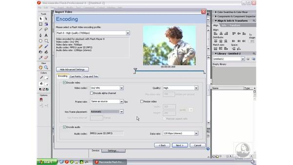 Encoding using Flash Professional 8: Flash Professional 8 Video Integration