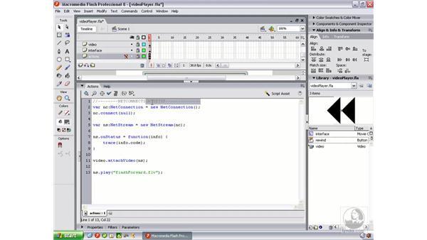 Creating video controls - rewind: Flash Professional 8 Video Integration