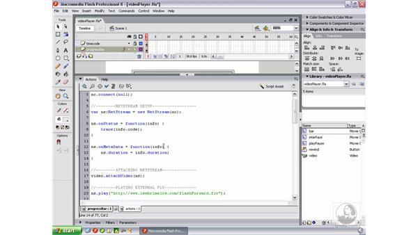 Creating a progress bar: Flash Professional 8 Video Integration