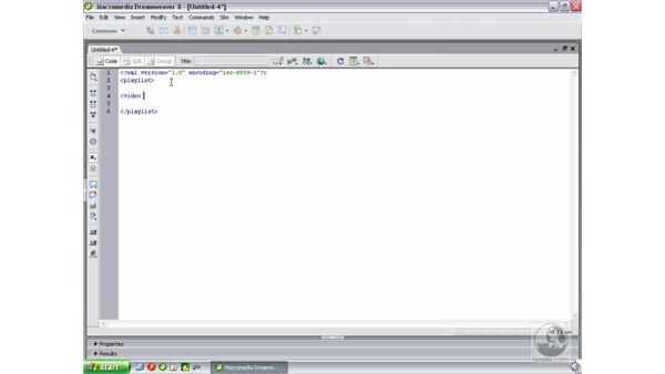 Writing an XML file: Flash Professional 8 Video Integration