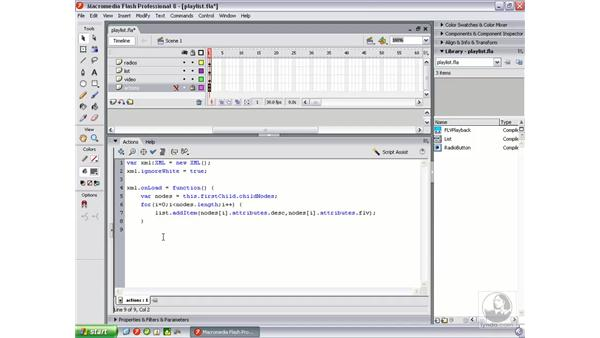Coding a video playlist: Flash Professional 8 Video Integration