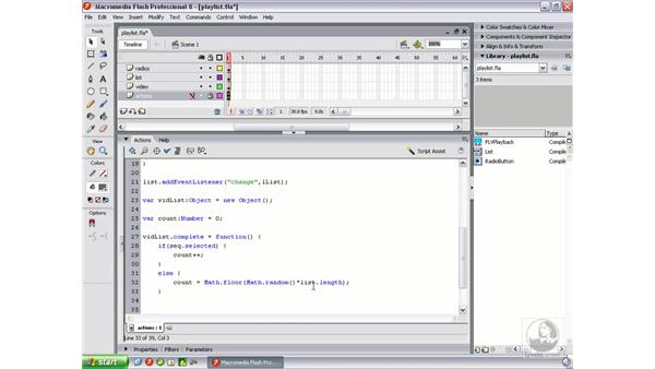 Implementing sequential and random playing: Flash Professional 8 Video Integration