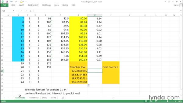 Forecasting sales: Excel Data Analysis: Forecasting