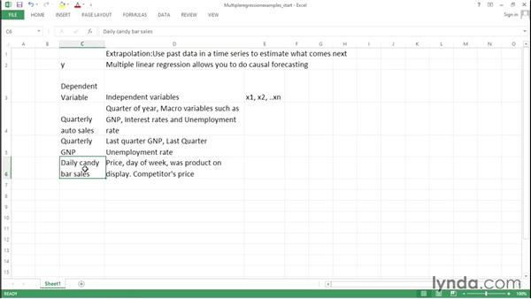What is multiple regression?: Excel Data Analysis: Forecasting