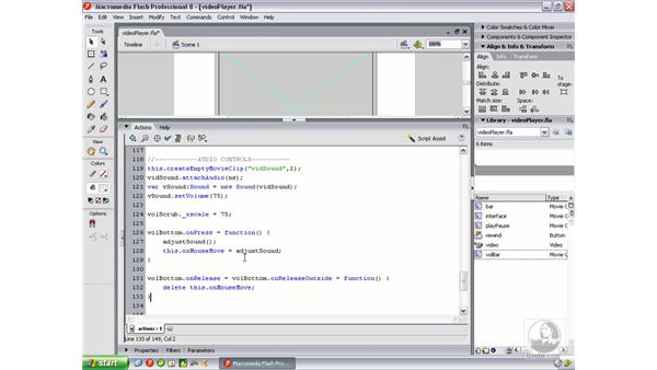 Creating a volume scrubber bar: Flash Professional 8 Video Integration