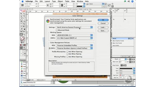 Synchronizing color settings with Version Cue and Bridge: InDesign CS2 Print Project Workflow