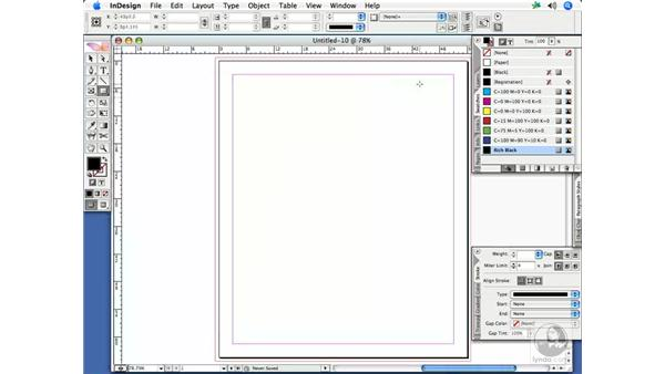 Creating a new InDesign document (including saving and using presets): InDesign CS2 Print Project Workflow