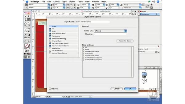Setting document default text frame options: InDesign CS2 Print Project Workflow