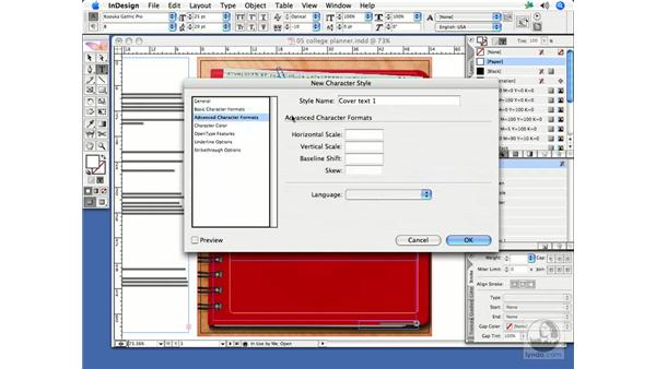 Creating styles based on formatting: InDesign CS2 Print Project Workflow