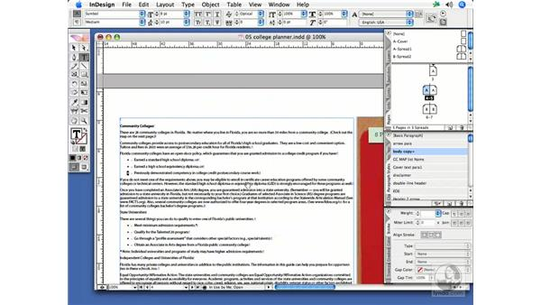 Positioning text: InDesign CS2 Print Project Workflow