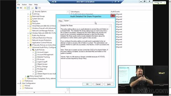 Storage optimization: File access auditing: Windows Server 2012 Active Directory: File System and Storage